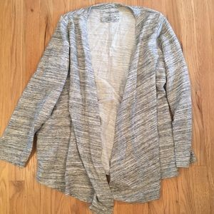 Sonoma gray open front cardigan sweater 1X